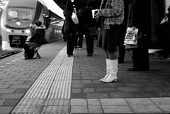"The creative commuter (Just a guy who likes to take pictures) Tags: voyage street morning travel winter portrait people bw en woman white black holland public netherlands girl dutch make up station female train bag tren photography und reisen chair europa europe boots perron ns candid transport nederland thenetherlands makeup zug bahnhof skirt plastic human transit estacion commuter holanda commuting mass frau bahn stoel zwart wit weiss vis vissen schwarz vrouw castricum commuters trein spoor niederlande spoorwegen zw reizen ov the plattform vervoer nederlandse openbaar ""public transport"""