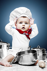 The little chef (Lode Schildermans) Tags: birthday baby photo nikon foto verjaardag photoshoot picture pots card chef alienbee kok kaart pans strobist ab800 chefkok