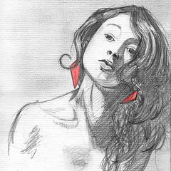 Me! (AniSuperNova83) Tags: red portrait woman art girl pencil sketch mujer rojo arte drawing retrato niña supernova dibujo obra boceto lápiz badulake supernova83 badudigital anisupernova