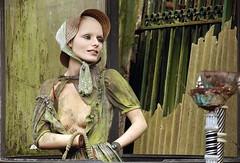 mettre la main au panier (lachaisetriste) Tags: mannequin nikon chapeau brocante ville ferraille d80 davray