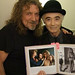 Robert Plant & BP Fallon & evidence, Abbey Road recording studios London Feb 25 2010