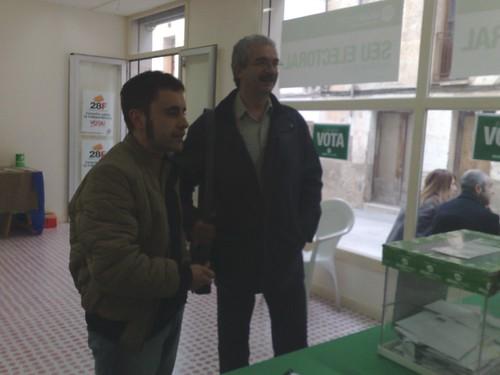 #consultes El Cuiner de l'Any Oriol Llavina i el Diputat Miquel Carrillo coincideixen per votar