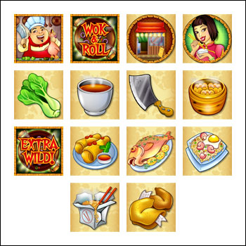 free Wok and Roll slot game symbols