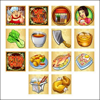 free Wok and Roll slot game symbols