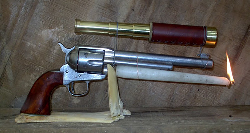 his black powder revolver