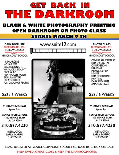 PHOTOGRAPHY DARKROOM VENICE CLASS FLYER 2010