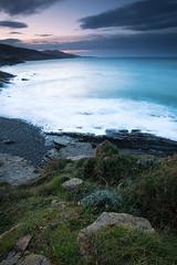 Vista de La Juncosa (Andoni Lamborena) Tags: sunset sea seascape beach nature landscape atardecer hitech muskiz ilunabarra juncosa hitechfilters lamborena filtroshitech lajuncosa