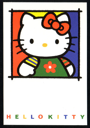 "Hello Kitty ""vintage"" 1994 postcard by Jay Tilston"