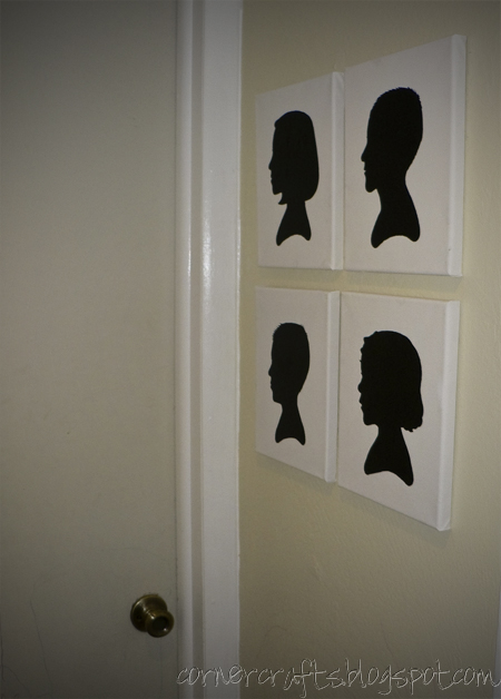 silhouette canvas finished hung