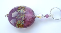 Two Tone Purple (Glittering Prize - Trudi) Tags: uk glass necklace beads purple crystal handmade jewellery swarovski jewelery trudi lampwork raku frit sra pendants sterlingsilver glitteringprize silkk