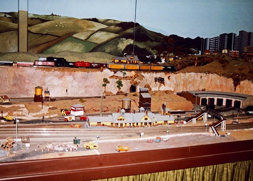 Model Railway Layout Southwards Motor museum Wellington New Zealand 1991