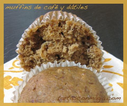 muffins de cafe y datiles