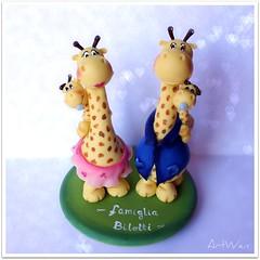 Familia Jirafa (ArtWen) Tags: jirafa porcelanafria artwen familiapicnik