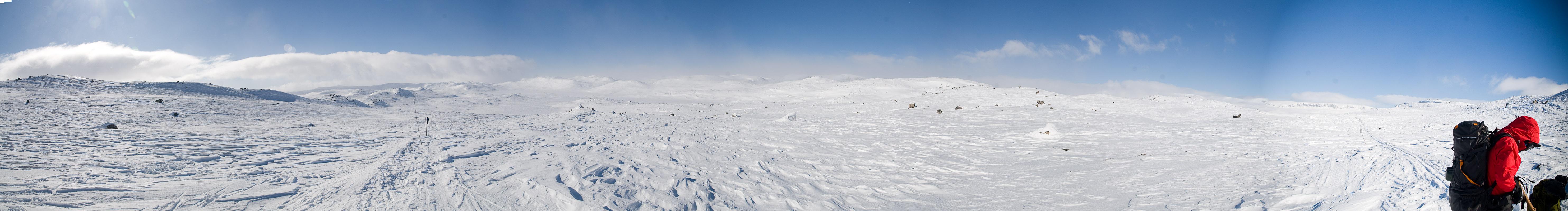 Panorama fra Hardangervidda mellom Krækkja og Haugastøl