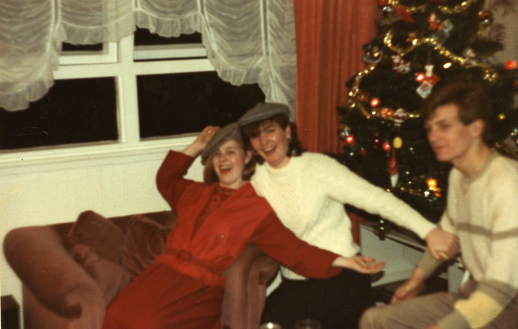 Cranhill Christmas, Stephanie Vickery. Katrina and Paul Curran 1980's