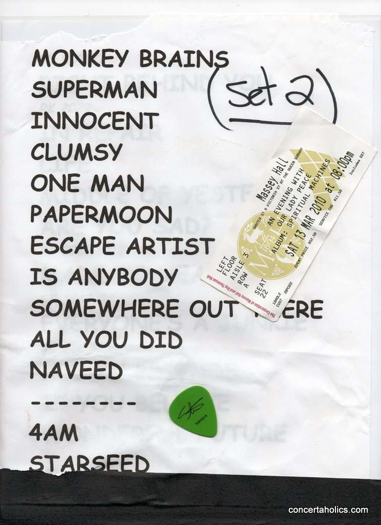 Our Lady Peace Setlist | Massey Hall | March 13, 2010