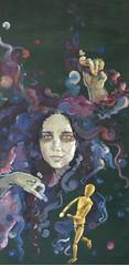 painting - oil on acrylic background 100-x 50 cm (taissa's) Tags: woman painting hair hands boneco artist acrylic purple mulher quadro oil dummy mãos cabelo pintura roxo oleo articulado acrílica