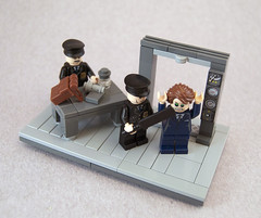 Airport Security is the Worst... (Titolian) Tags: airport lego bat security cricket worst vignette brickarms