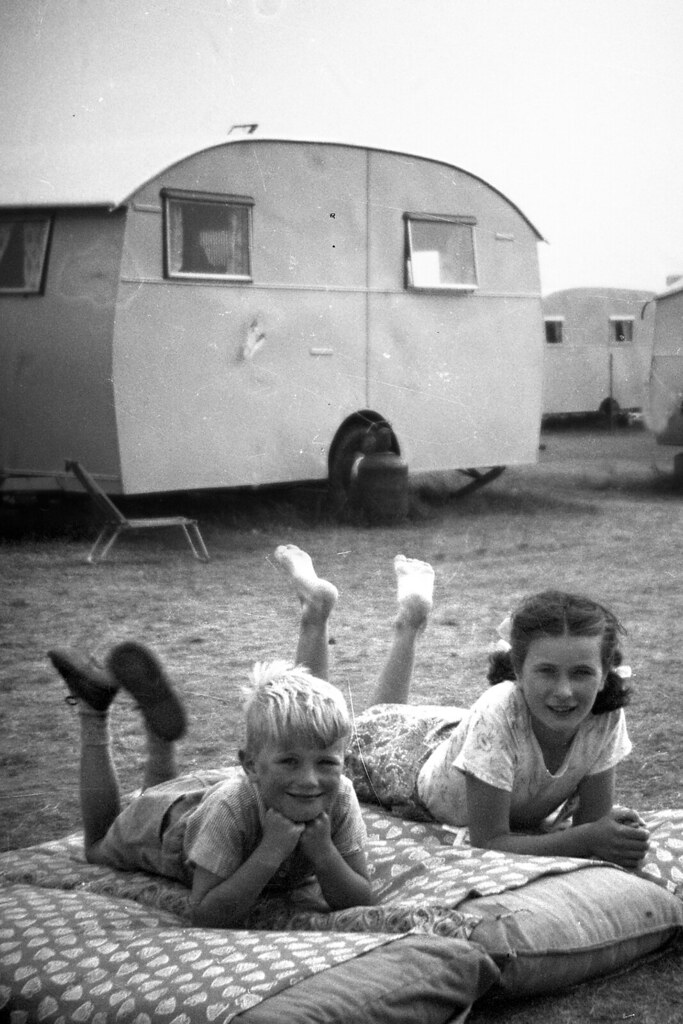 Irene Ross and Wee Brother Billy, 1953
