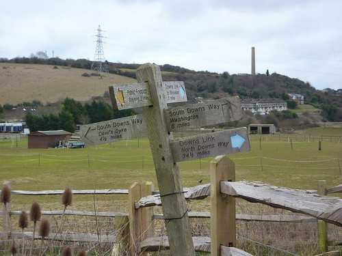 Rejoining the South Downs Way at Upper Beeding