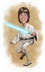 Luke Skywalker (Mark Hammermeister) Tags: illustration photoshop starwars humor lucasfilm digitalpainting jedi scifi caricature lukeskywalker georgelucas digitalillustration markhammill