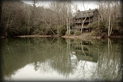 Nature_Collection (cassidyc79_rh) Tags: trees lake mountains reflection water landscape pond cabin rustic northcarolina blueridgeparkway canon1785mm