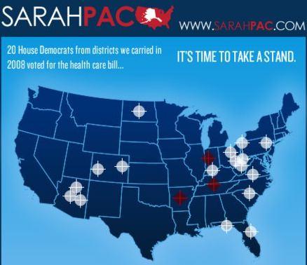 Palin puts rifle targets on Democrats