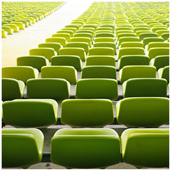 (It's Stefan) Tags: verde green linhas germany munich bavaria  vert monaco arena estadio seats perch  olympicstadium gomtrie stade lignes  geometria olympiastadion baviera lneas  asiento linien       siege    stefanhoechst stefanhchst stefanhoechst