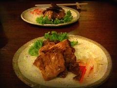 Kurobata no wasabi shoyu yaki, Omakase course, Chiharu