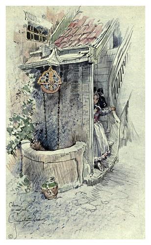 010-Alsacia-Lorena un pozo del siglo XV-Alsace-Lorraine-1918- Edwards George Wharton