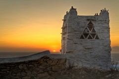 Pigeon House at sunset (Vasilis Tsikkinis) Tags: sunset house canon greek day cloudy pigeon greece mykonos canoneos5d