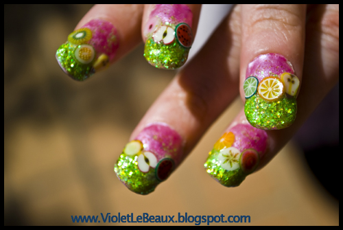 Fimo Fruit Nail Art