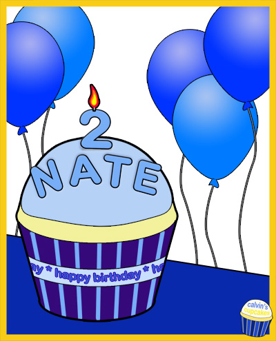 Nathan's 2nd Birthday Cupcake
