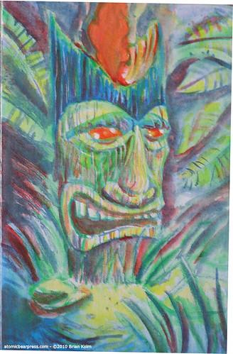 WIP Tiki Painting