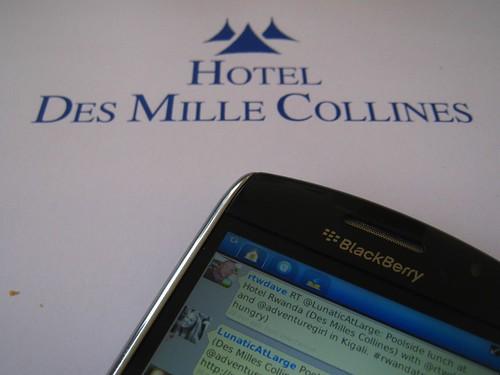 Tweeting from my BlackBerry Curve - Kigali, Rwanda