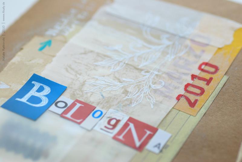 Bologna travel book, cover detail
