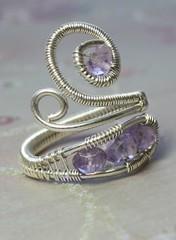 amethystring111 (Theforestprincess) Tags: silver wire handmade wrapped ring sterling amethyst gem gemstone