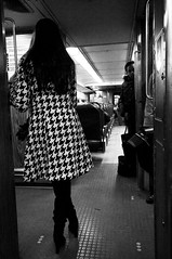 Train Noir (Lori Foxworth) Tags: woman train noir commute njtranist quotlorifoxworthquot quotlorifoxworthphotographyquot quotblackwhiteandrawquot quotyourdailycheesesteakquot