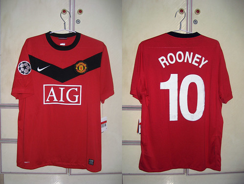 Manchester United 2009-2010 UCL Home S/S (ROONEY)
