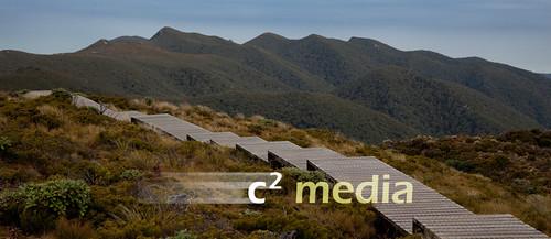 Boardwalk and hills