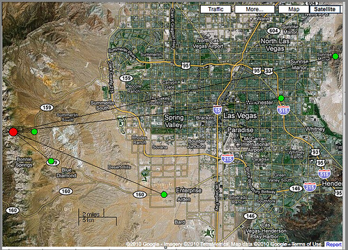 This Map show Las Vegas and Mt. Wilson and Frenchman Mt.