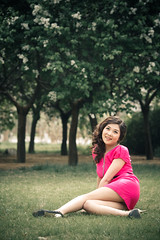 I  Pink. (Akira2506) Tags: china pink woman flower colour tree green love film colors girl beautiful beauty yellow asian spring colours dress heart natural blossom chinese fake    edit shaanxi       weinan  i