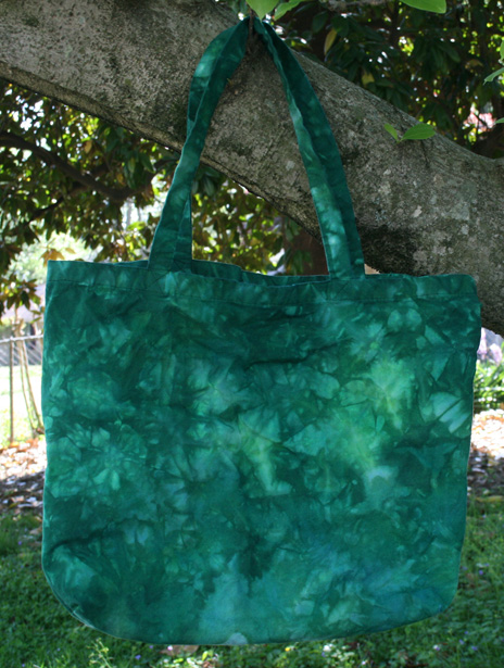*Broccoli* hand dyed canvas shopping bag