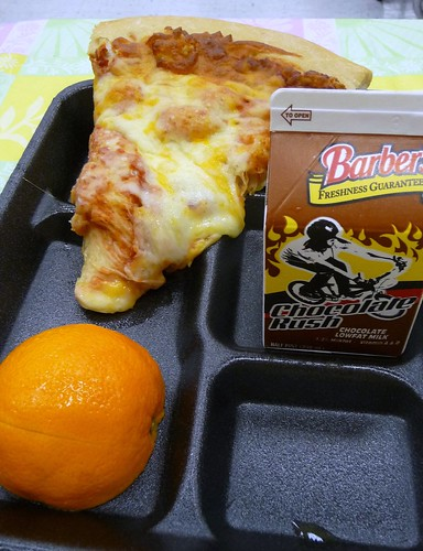 Elementary School Lunch - Friday Pizza Day