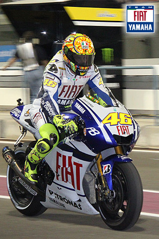 Iphone wallpaper - Valentino Rossi by Fiat Yamaha Team