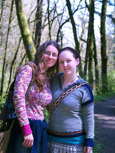 Marlita and I on the trail