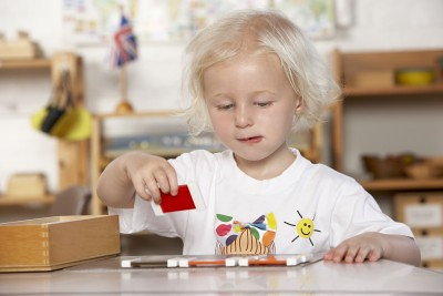 Montessori Child in the UK by Cathy Yeulet