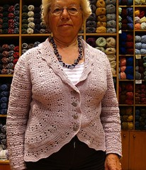 Anna and her new jacket (sifis) Tags: wool canon knitting modeling knit merino yarn jacket cardigan s90 handknitting  sakalak
