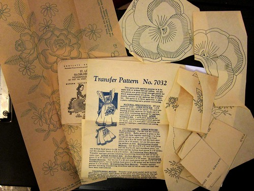 Vintage Mail Order Embroidery Transfer Pattern 7032