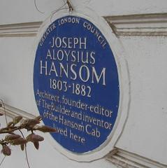 Photo of Joseph Aloysius Hansom blue plaque